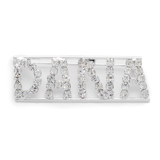 Detti Originals Silver 'DANA' Crystal Name Pin