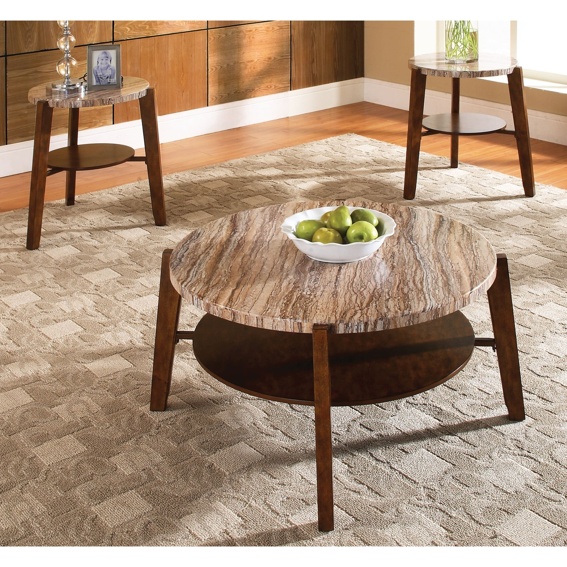 Greyson Living Toledo Faux Marble 3-pack Occasional Tables