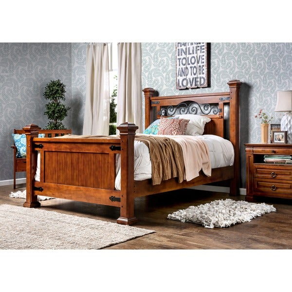 Furniture of america country style poster bed 16385761 for Furniture of america bed reviews