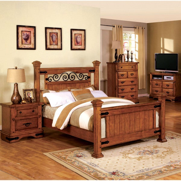 Furniture of america country style poster bed 16385761 for Furniture 7 days to die