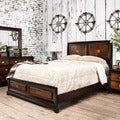 Furniture of America Anteia Duo-Tone Acacia and Walnut Platform Bed