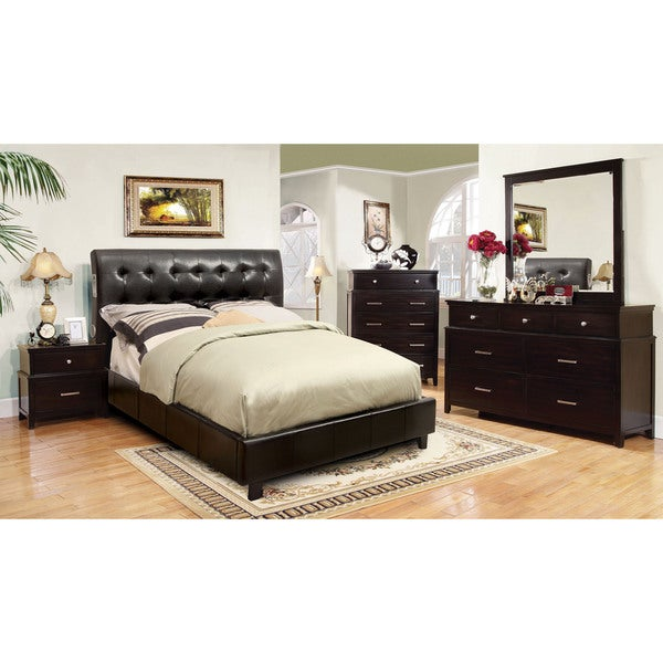of america perrington 4 piece espresso bluetooth speaker bedroom set