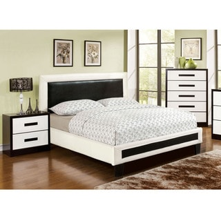 Furniture of America Blairess 3-Piece Contemporary Duo-Tone Bedroom Set