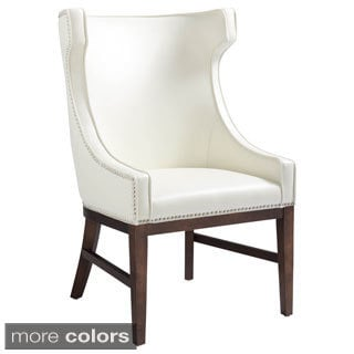 Sunpan Kashmir Leather High Back Chair