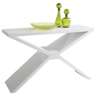 Sunpan Whitaker Modern White Console Table