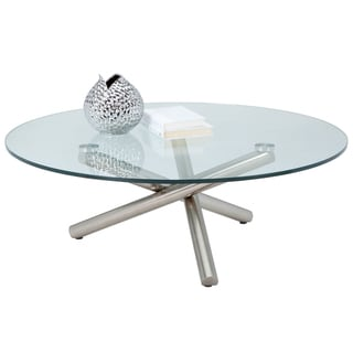 Sunpan Vistana Stailess Steel Glass-top Coffee Table