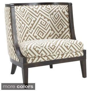 Sunpan Walters Geometric Fabric Upholstered Armchair