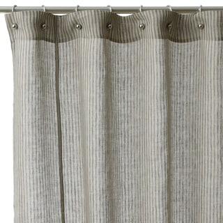 Linen Stripe Cotton Shower Curtain