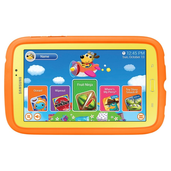 Samsung Galaxy Tab 3 7-inch Kids Tablet 1.2GHz 1GB 8GB Android 4.1 7-inch Kids Tablet with Orange Case (Refurbished)
