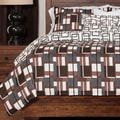 Geometric Plaid 4-piece Duvet Cover Set