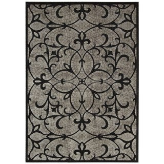 Nourison Graphic Illusions Black Area Rug (7'9 x 10'10)