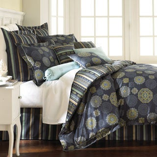 Starry Night Blue Floral 8-piece Comforter Set