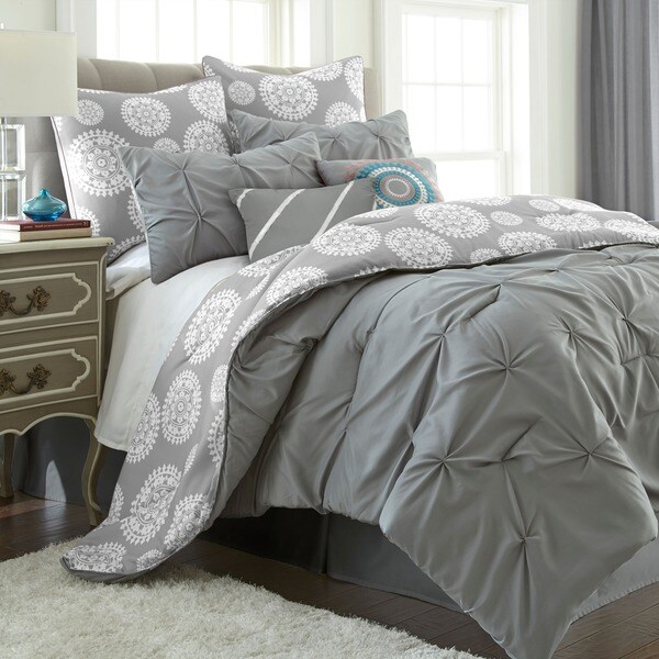 Lorna Multicolored Reversible 8-piece Comforter Set