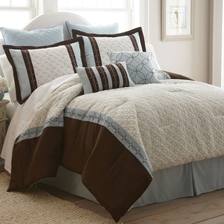 Baxter 8-piece Embroidered Comforter Set