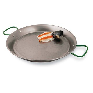 Paderno World Cuisine 15.5 inch Polished Carbon Steel Paella Pan