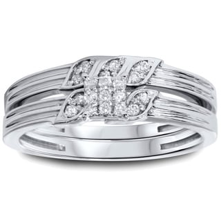 10k White Gold 1/4ct TDW Diamond 2-piece Ring Set (I-J, I2-I3)