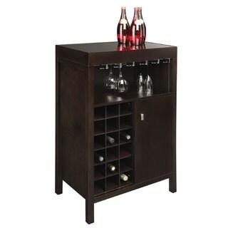 Sunpan Philmore Wood/ Glass Wine Bar
