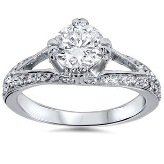 14k White Gold 1 1/10ct TDW Diamond Ring (G-H, I1-I2)