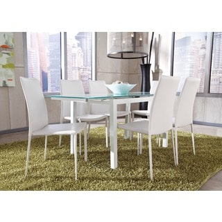 Signature Design by Ashley Baraga White Extension Dining Table