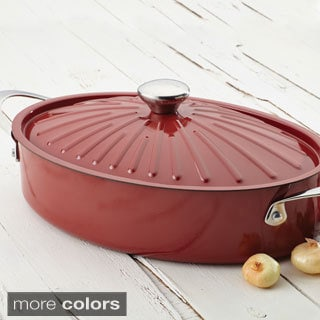 Rachael Ray Cucina Oven-To-Table Hard Enamel Nonstick 5-quart Covered Oval Sauteuse