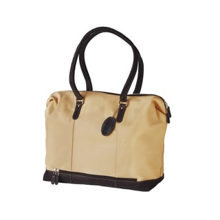Bugatti Women's Beige Leather Travel Duffel Bag