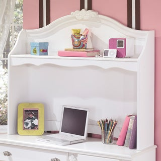 Signature Design by Ashley Exquisite Luminous White Desk Hutch