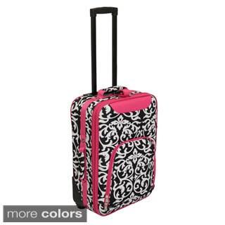 World Traveler Lightweight 20-inch Damask Carry-on Upright Suitcase