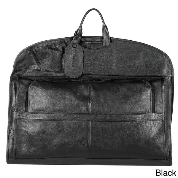 Bugatti Leather Garment Bag