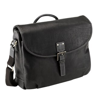 Bugatti Vaquetta Leather 15-inch Laptop Messenger Bag