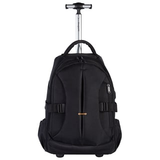 Bugatti Ballistic Nylon Rolling Hybrid 17-inch Laptop Backpack