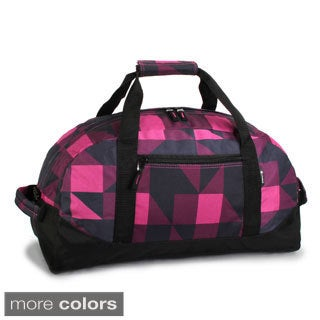 J World Lawrence 21-inch Block Pattern Carry On Duffel Bag