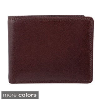 Bugatti Men's Leather Bi-fold Travel Wallet