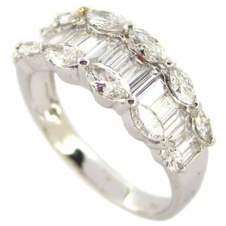 Kabella Luxe 18k White Gold 1 4/5ct TDW Marquise Diamond Ring (G-H, I1-I2)
