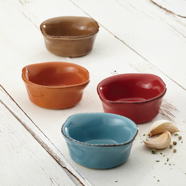 Rachael Ray Cucina Stoneware 4-piece Assorted Dipping Cup Set 13326465
