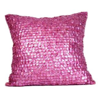 Radiant Orchid Mother Of Pearls Feather Filled Throw Pillow