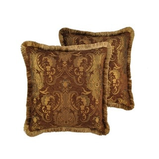 Sherry Kline China Art Brown 20-inch Decorative Throw Pillows (Set of 2)