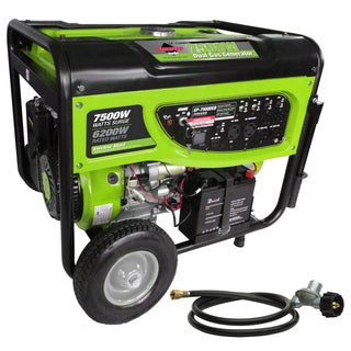 7500-Watt Propane (LPG) and Gasoline Generator with Electric Start and Battery