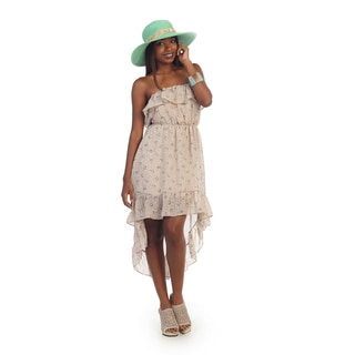 Hadari Women's Floral Strapless High-low Dress
