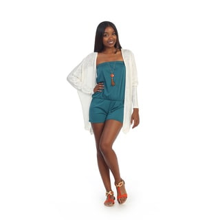 Hadari Women's Long White Open Cardigan