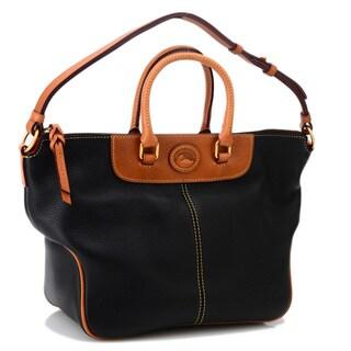 Dooney & Bourke 'Dillen II' Black Leather Convertible Hobo Bag