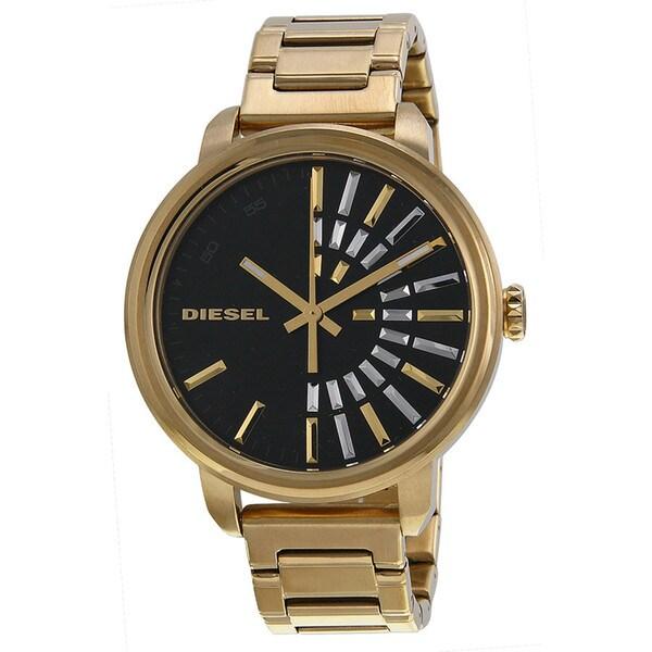 Diesel Women's DZ5417 Flare Black Dial Goldtone Watch