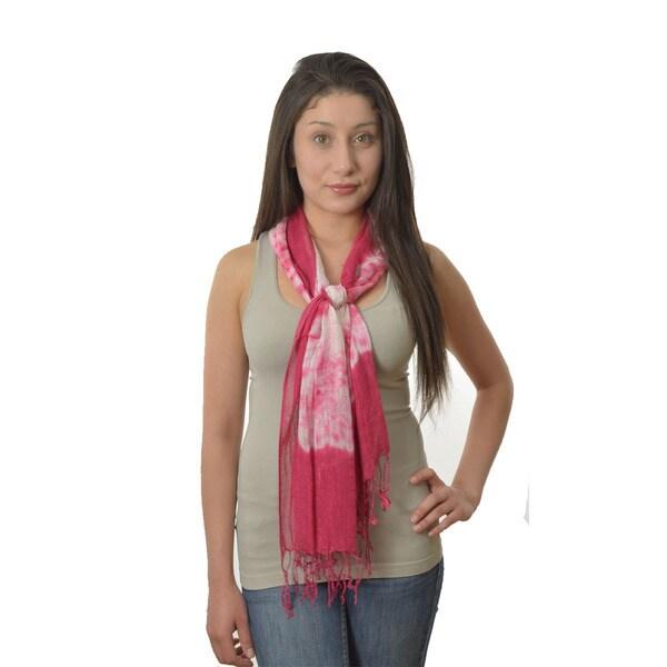 LA 77 Hot Pink Tie-dye Scarf