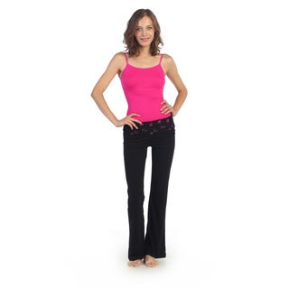 Hadari Women's Active Fold-over Yoga Pants