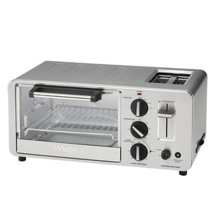 Waring WTO150 4-Slice Toaster Oven with Built-In 2-Slice Toaster (Refurbished)