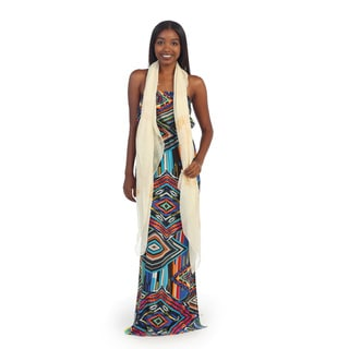 Hadari Women's Multicolored Geometric Maxi Dress