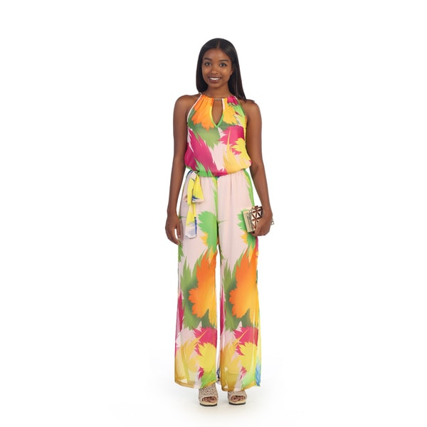 Hadari Women's Multicolored Sleeveless Jumpsuit