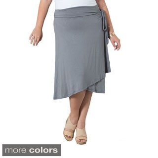 Sealed With a Kiss Women's Plus Wendy Wrap Skirt