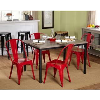 Barletta 5pc Red Dining Set