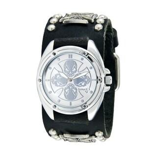 Nemesis Men's Silver Skull Compass Punk-style Watch