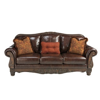 Signature Designs by Ashley North Shore Plus Coffee Brown Sofa
